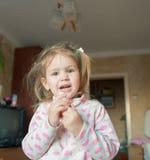 De glimlach van het babymeisje Royalty-vrije Stock Afbeeldingen