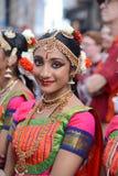 De glimlach van het Diwalifestival stock afbeelding
