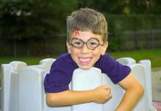 De Glimlach van het kind Stock Afbeelding