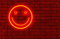 De glimlach van het neon Stock Fotografie