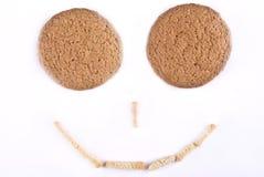 De glimlach van koekjes Stock Afbeeldingen