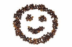 De Glimlach van koffiebonen Royalty-vrije Stock Foto's