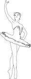De glimlachen van de ballerina Stock Afbeelding