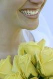 De glimlachen van de bruid Royalty-vrije Stock Afbeeldingen