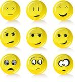 De glimlachen van de emotie Stock Afbeelding