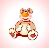 De glimlachen van de teddybeer Stock Foto