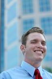 De Glimlachen van de zakenman Royalty-vrije Stock Foto's