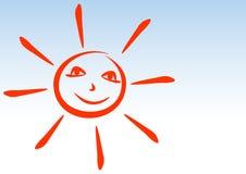 De glimlachen van de zon. Royalty-vrije Stock Fotografie