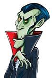 De glimlachen van Dracula van de Telling van het beeldverhaal Stock Afbeeldingen