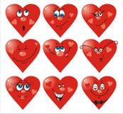 De Glimlachen van het hart aan de dag van de Valentijnskaart `s Stock Afbeeldingen