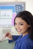De glimlachende Arbeider van de Ambtenaar Stock Foto