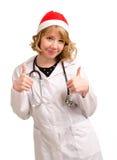 De glimlachende arts van Kerstmis royalty-vrije stock fotografie
