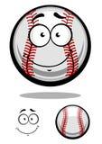 De glimlachende bal van het beeldverhaalhonkbal Stock Foto
