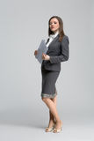 De glimlachende bedrijfsvrouw Royalty-vrije Stock Foto