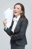 De glimlachende bedrijfsvrouw Royalty-vrije Stock Afbeelding