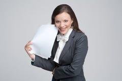 De glimlachende bedrijfsvrouw Royalty-vrije Stock Foto's