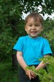De glimlachende jongen. De gelukkige kinderjaren Stock Afbeeldingen