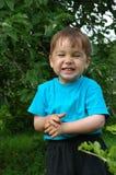 De glimlachende jongen. De gelukkige kinderjaren Stock Foto's