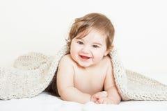De glimlachende jongen van de Baby stock foto's