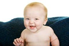 De glimlachende Jongen van de Baby Stock Fotografie