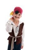 De glimlachende jongen van de Piraat stock fotografie