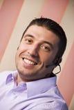 De glimlachende klantendienst Stock Foto's