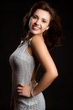 De glimlachende Vrouw van de Glamour Stock Foto's