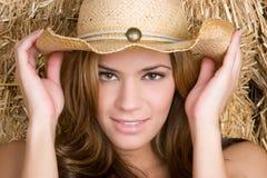 De glimlachende Vrouw van het Land Stock Foto