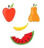 De glimlachgezicht van het fruit Stock Illustratie