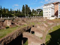 De glimp van Rome - Ludus Magnus- royalty-vrije stock foto