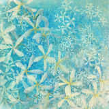 De glinsterende blauwe achtergrond van de bloem geweven kunst Royalty-vrije Stock Foto