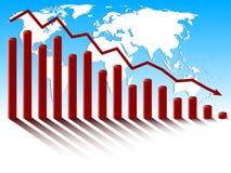 De globale economische crisis van de wereld. Royalty-vrije Stock Fotografie