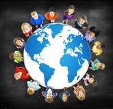 De globale Kaart Milieuconcservation Conce van de Globaliseringswereld royalty-vrije stock fotografie