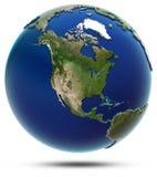 De globale kaart van Amerika - Noord-Amerika Stock Afbeeldingen