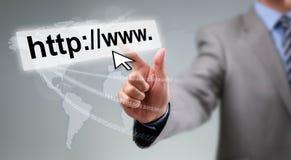 De globale mededelingen van Internet royalty-vrije stock afbeeldingen
