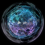 De globale technologieën van netwerkinternet Digitale wereldkaart Royalty-vrije Stock Afbeeldingen