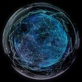 De globale technologieën van netwerkinternet Digitale wereldkaart stock afbeeldingen