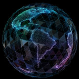 De globale technologieën van netwerkinternet Digitale wereldkaart Royalty-vrije Stock Afbeelding