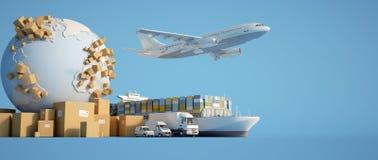 De globale vervoersindustrie vector illustratie