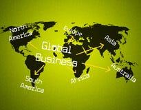 De globale Zaken vertegenwoordigen Globalize Commercieel en Globalisering vector illustratie