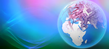 De globalisering van de wereld stock illustratie