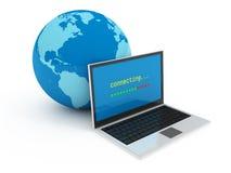 De globaliseringsconcept van Internet Stock Afbeeldingen