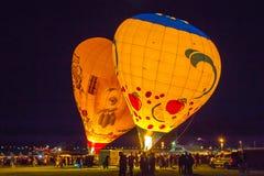 De Gloed van de ballonschemering Stock Fotografie