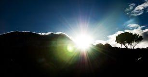 De gloed van de lens op MT Kilimanjaro Stock Foto