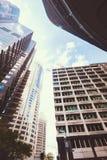 De gloed van de middagzon over skysraper Royalty-vrije Stock Afbeeldingen