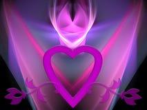 De gloed van de valentijnskaart Royalty-vrije Stock Afbeelding