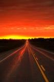 De gloed van de weg Stock Afbeeldingen