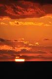 De gloed van de zonsondergang, stock foto's