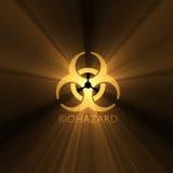 De gloed van het de waarschuwingssymbool van Biohazard Stock Foto