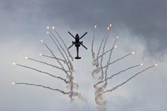 De gloed van het helikoptervuren stock foto's